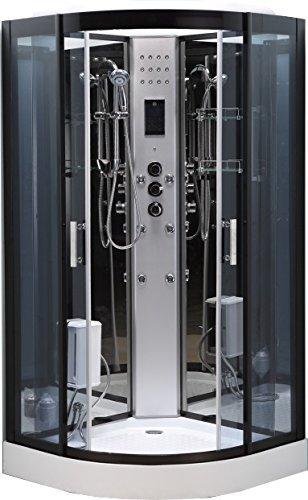 Box doccia idromassaggio fiordaliso 90 x 90 cm angolare luce ...