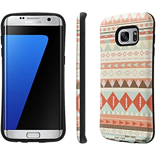 Galaxy S7 Edge / GS7 Edge Case, [NakedShield] [Black Bumper] Heavy Duty Shock Proof Armor Art Phone Case - [Tribal Pattern] for Samsung Galaxy S7 Edge / GS7 Sales