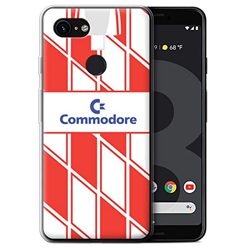 Gel TPU Phone Case/Cover for Google Pixel 3 / Chelsea 1990 Away Design/Retro Soccer Jersey/Shirt Division 1 ()