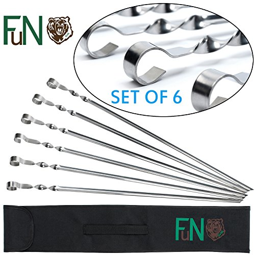 FuN Grill BBQ Skewers Stainless Steel Long 17