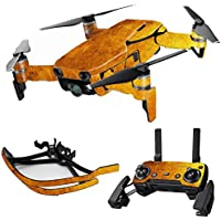 MightySkins Skin for DJI Mavic Air Drone - Textured Gold | Max Combo Protective, Durable, and Unique Vinyl Decal wrap cover | Easy To Apply, Remove, and Change Styles | Made in the USA