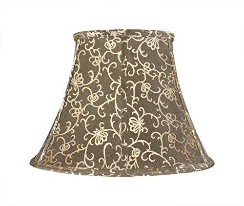Aspen Creative 30045 Transitional Bell Shape Spider Construction Lamp Shade in Light Gold, 13