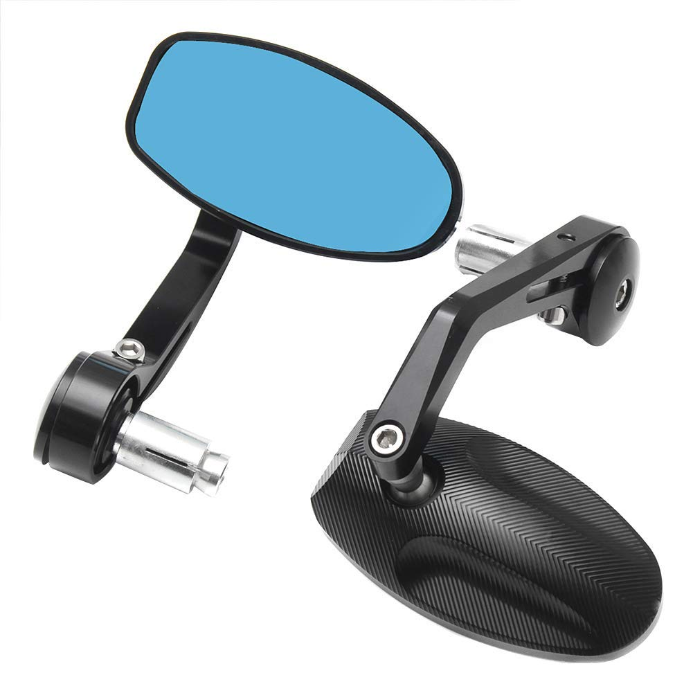 Starmood 2pcs CNC Motorcycle Bar End Rearview Side Mirrors Portable For Street Triple