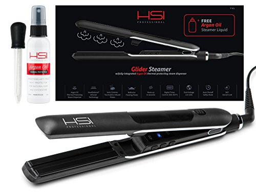 HSI Professional Glider Steamer Ceramic Flat Iron w/Steam Dispenser