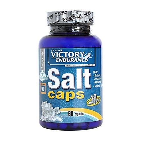 Victory Endurance Salt Caps. 90 capsulas. Con un aporte extra de vitaminas D y B1. Con sodio, potasio, Cloro, Calcio, Hierro, Magnesio, Yodo, Cobre, Manganeso, Selenio. a buen precio