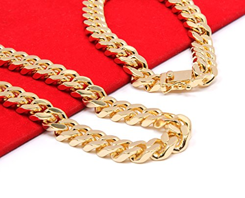 Mens Gold Tone Heavy Cut Hip Hop 10mm 30 Quot Chain Amp 9