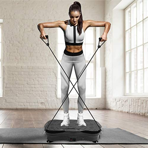 Vibration Plate Exercise Machine - Whole Body Plate Platform Massager Music Workout Vibration Fitness Platform w/Loop Bands - Home Training Equipment for Weight Loss & Toning 1