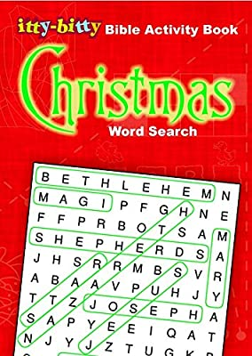IttyBitty Activity Book Christmas Word Search (Pack of 6): Warner