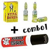 (3) Liquid Stink Bombs ~ Butt Crack Ass Smell + (1) Fart Spray ~COMBO SET~