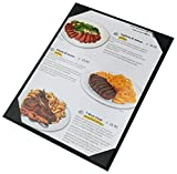 "10 Pcs of Restaurant Menu Covers Holders 8.5"" X 11"" Inches,Single View,Sold By Case,With Clear PVC sheets for Paper Protection"