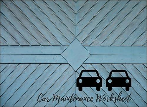 car maintenance worksheet car maintenance repair log book journal