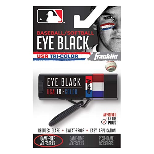 (Franklin Sports MLB Premium Eye Black - Red. White, Blue)