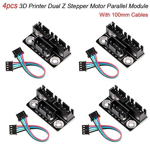 Parallel Module - MakerHawk 4pcs 3D Printer Dual Z Stepper Motor Parallel Module with 100mm Cables for Dual Double Z Axis Dual Z Stepping Motors Reprap Prusa Lerdge 3D Printer Board 3D Printer Parts and Accessories
