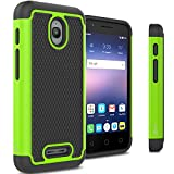 Alcatel Dawn Case, Alcatel Streak Case, Alcatel Ideal Case, CoverON [HexaGuard Series] Slim Hybrid Hard Case for Alcatel One Touch Dawn - Green (Not Fit Ideal Xcite)