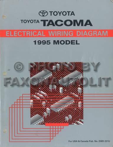1995 toyota tacoma pickup wiring diagram manual original paperback – 1995