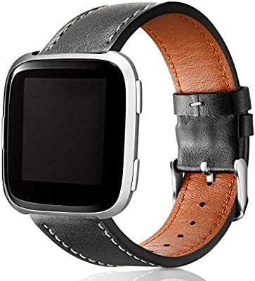 HUMENN Correa para Fitbit Versa/Fitbit Versa 2, Pulsera de Cuero ...