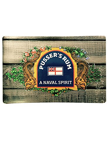 Pusser's Rum Tin Sign: Serpents and Flowers