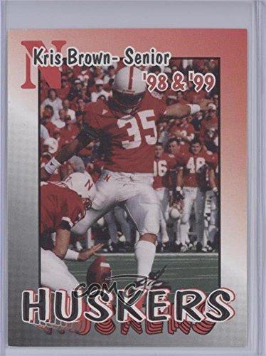 Kris Brown (Football Card) 1998-99 Nebraska Cornhuskers Team Issue - [Base] #35 - Nebraska Cornhuskers Brown Football