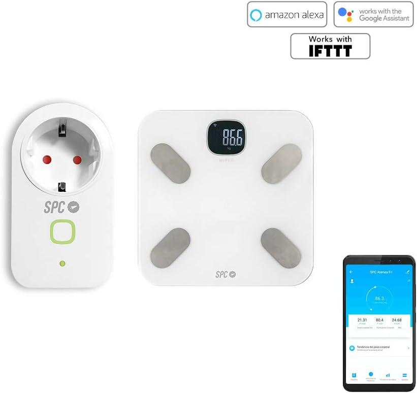 SPC 6918K Kit báscula análisis Corporal y Bombilla Inteligentes Smart Compatible con Amazon Alexa y Google Home: Spc-Internet: Amazon.es: Electrónica