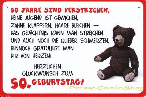 Plastikschild Postkarte Coole Schilder 50 Geburtstag Amazon
