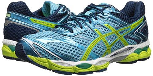ASICS Women's Gel-Cumulus 16 Running Shoe,Turquoise/Sharp Green/Navy,6.5 M US