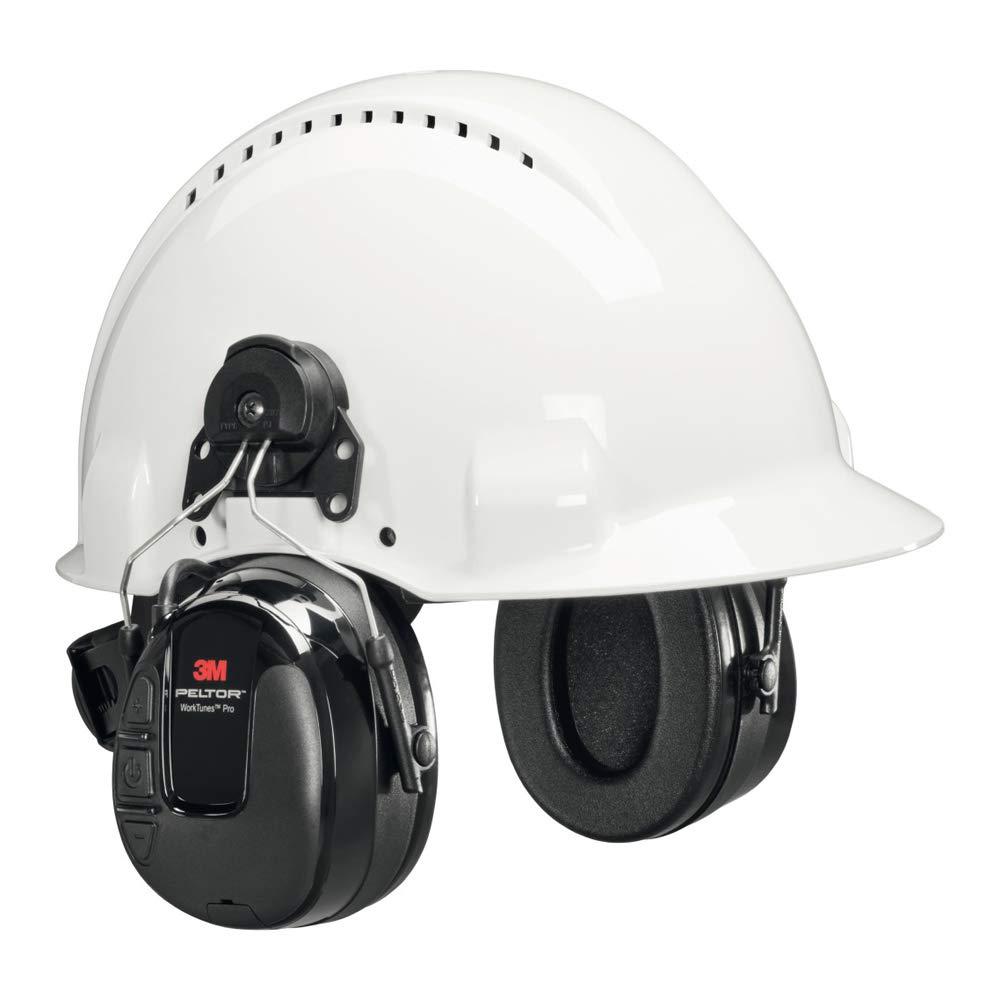 Casque radio FM 3M\u2122 PELTOR\u2122 WorkTunes\u2122, 31 dB, noir, monté sur casque, HRXS220P3E
