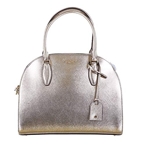 Kate Spade New York Reiley Large Dome Satchel Purse (Metallic Blush)