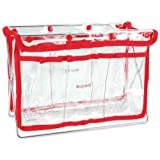 Handy Caddy HC-RED Art Media Storage Containers Tool Organizer, Clear View