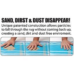 CGear Sand-Free Multi Rug (6-Feet 6-Inch x 6-Feet 6-Inch, Blue Plaid)
