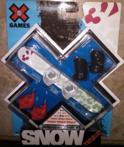 Exus Boot - X Games Fingerboard Snowboard 32 Leopard Snowboard / Exus Boots by X Games