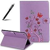 iPad Air Case Purple,Qbily Butterfly Flower