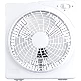 Cool Works 10 2-Speed White Plastic Box Fan