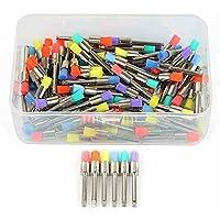 Amyove 100 Unids/Caja Pinceles de Maquillaje Colorido de Nylon Pequeños Desechables Planos Pulidor Polisher Cepillos Productos de Dentista