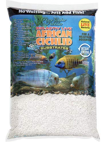 Gravel Aquarium White (African Cichlid Substrates Bio-Activ Live Cichlid Sand for Aquarium, 20-Pound, Natural White)