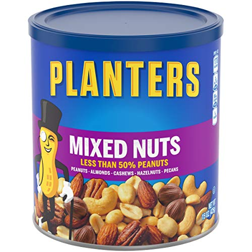 Planters Mixed Nuts, Lightly Salted, 3 Count, 45 Ounce