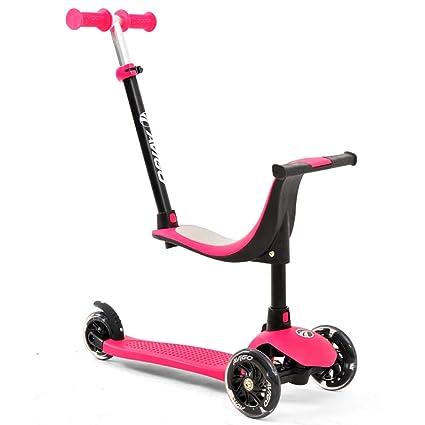Scooter Patinete 3 en 1 con Asiento Desmontable, Ajustable ...