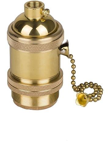 HJXDtech E27 Retro Portalámparas con Interruptor Giratorio Vintage Edison Screw Bombilla Holder Light Socket