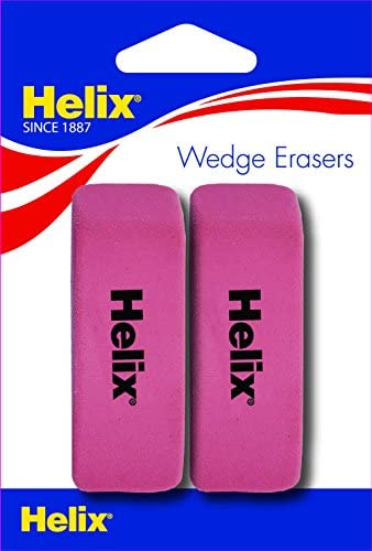 Helix Pink Wedge Erasers 37043 product image