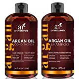 ArtNaturals Argan-Oil Hair-Loss Shampoo and Conditioner Set - Hair Regrowth (2 x 16Oz / 473 ml) Sulfate Free- Moroccan Treatment for Hair Loss, Thinning Hair and Hair Growth, Men and Women- Made with Organic Ingredients