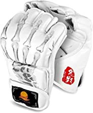 Punching Gloves, ZOOBOO Half-Finger Boxing Fight Gloves MMA Mitts with Adjustable Wrist Band for Sanda Sparrin