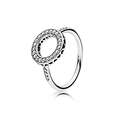 64ba7e4ff Amazon.com: Hearts of PANDORA Halo Ring, Clear CZ 191039CZ: Jewelry