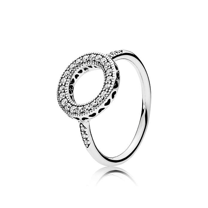 e46935c09 Amazon.com: Hearts of PANDORA Halo Ring, Clear CZ 191039CZ: Jewelry