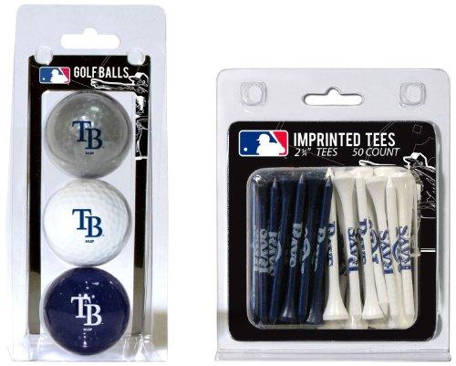 (Team Golf MLB Tampa Bay Rays Logo Imprinted Golf Balls (3 Count) & 2-3/4