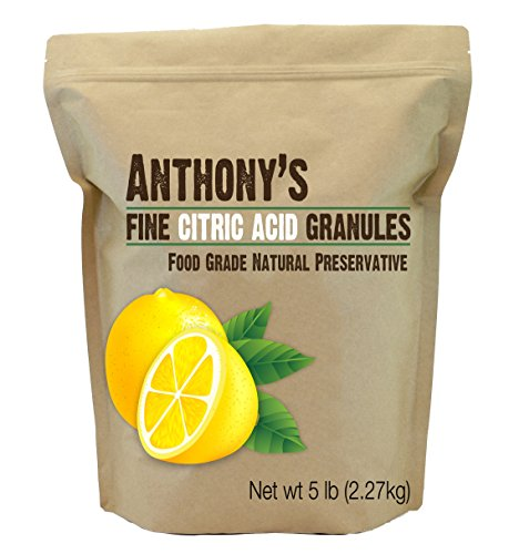 Citric Acid Granules by Anthony's, 5lb Non-GMO Food Grade Natural Food - Bath Soda Baking Sea Salt