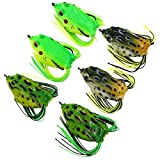Threemart Fishing Lures For Freshwater,Topwater Frog Crankbait Tackle Bass Soft Swimbait Lures Crankbaits Hard Bait (6pcs/lot)