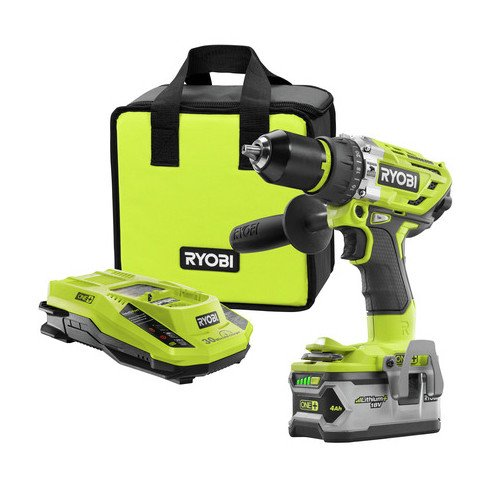 Ryobi ZRP1813 Ryobi 18-Volt ONE Plus Brushless Hammer Drill Kit (Renewed)