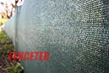 Fenceter Commercial Grade 4'x50' Dark Green Fence Screen Privacy Screen Mesh Fence Shade Cover Windscreen Aluminum Grommet