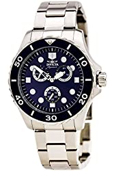 Invicta Signature II Multi-Function Blue Dial Stainless Steel Mens Watch 7050
