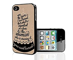 Black and Tan Fashion Icon Style Quote Hard Snap on Phone Case (iPhone 6 4.7)