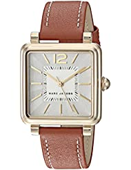 Marc Jacobs Womens Vic Quartz Stainless Steel and Leather Casual Watch, Color Brown (Model: MJ1573)